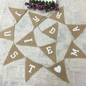 Banderole 'Just Married' en jute