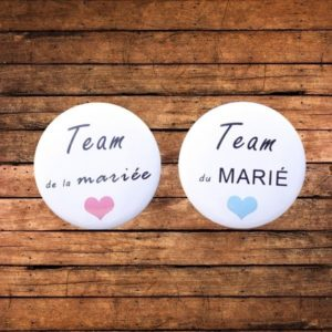 Badge Team des mariés